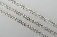 Женская серебряная цепочка. Плетение Бисмарк арабский