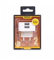 Сетевое ЗУ Remax на 2 USB (USB, 1A)