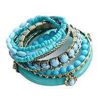 Набор браслетов Голубой
