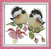 """Набор для вышивки крестом  """"Пение птиц в цветах"""""""
