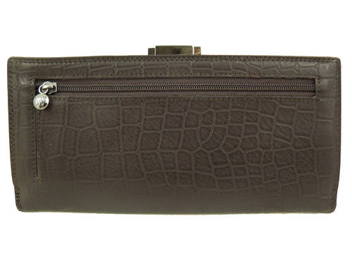 Женский элегантный кожаный кошелек WANLIMA (ВАНЛИМА), W62043790042-coffee