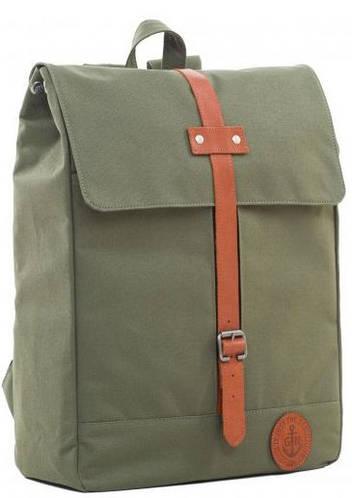Строгий городской рюкзак с отделением для ноутбука, 14 л. Gin Double G, хаки