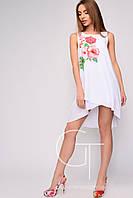 Carica Белое летнее платье  Персик размеры 42 44 46