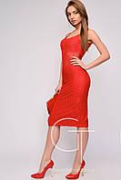 Гипюровое красное платье размеры 42 44 46