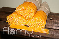 Свеча церковная желтая, средняя. Упаковка 100 шт