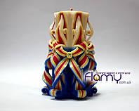 Резная свеча, цветная, высота 150 мм