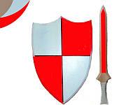 """Набор """"Рыцарский"""" щит 23*40 см.+меч 45см"""