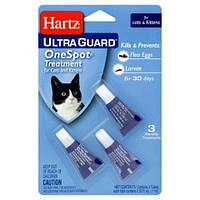 Hartz UltraGuard OneSpot капли на холку для кошек от яиц блох и их личинок - 1 пипетка