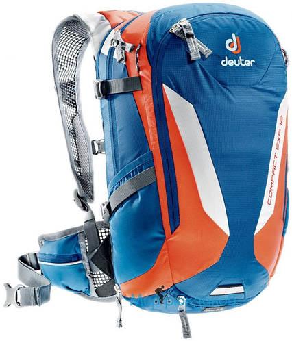 Туристический надежный мужской рюкзак на 12 л. DEUTER Compact EXP 12, 3200215 3905 синий
