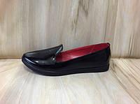 Туфли лоферы мокасины женские черные натуральная кожа