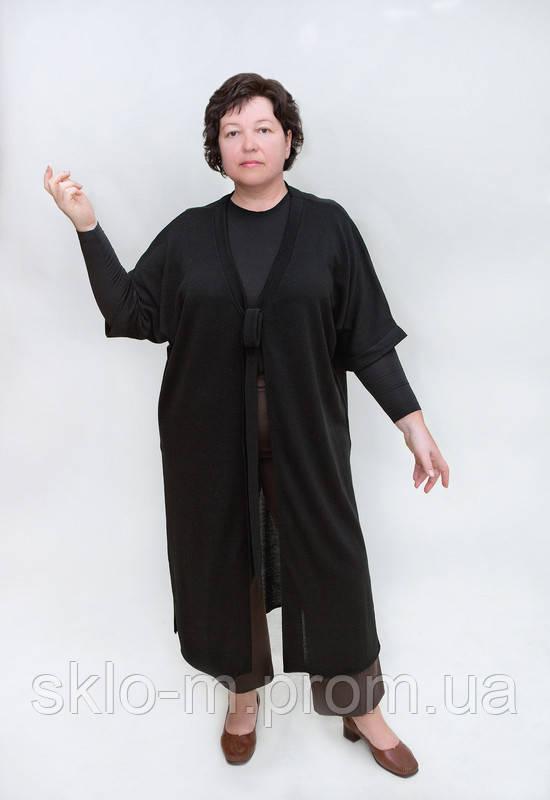 кофта с полукруглым вырезом со вставкой рубашки