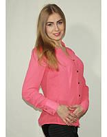 Блузка летняя малинового цвета на пуговицах