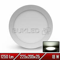 Светильник LED врезной круглый, 220 В, 18 Вт, Белый