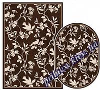 """Безворсовый ковер-рогожка Natura Karat """"Птицы в ветвях"""" - цвет -коричневый"""
