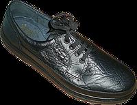 Мужские туфли кожаные на шнурке