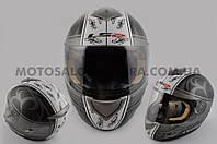 """Шлем-интеграл   """"LS-2""""   (mod:366) (size:XL, черно-белый матовый)"""