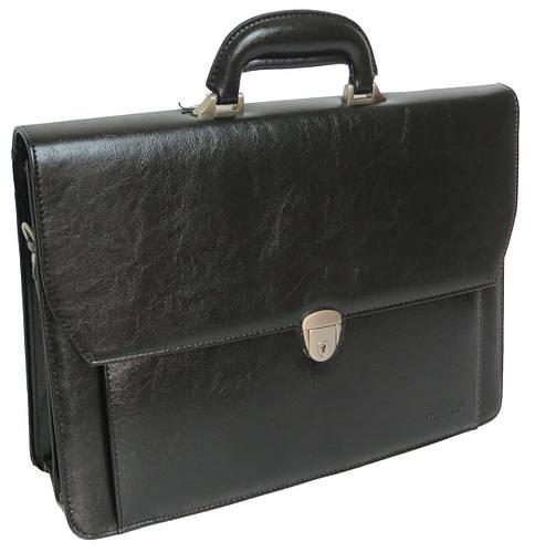 Деловой портфель из искусственной кожи 4U CAVALDI черный B027C2
