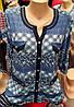 Летняя блуза с карманами обманка