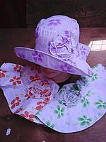 Шляпка с большими полями цветы