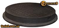 Люк канализационный до 4,5т черный с логотипом