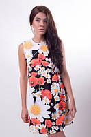 Женское стильное платье c принтом