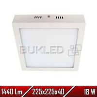 Светильник Led накладной, квадратный, 220 В, 18 Вт,  Premium (50 000 ч)