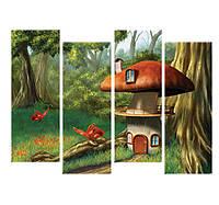 """Магазин модульных картин. Картина """"Грибной домик"""""""