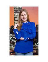 Блузка летняя с украшением и длинным рукавом