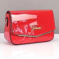 Красная лаковая сумочка женская маленькая