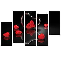 """Модульная картина для интерьера: """"Горячие сердца"""""""