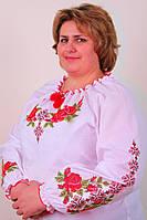 Женская вышиванка на крупных женщин