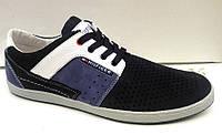 Мужские туфли Tommy Halfiger перфорированный нубук весна-лето TH0005