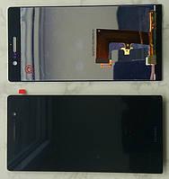 Huawei Ascend P7 дисплей LCD + тачскрін сенсор чорний оригінальний