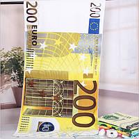 Пляжное (Банное) полотенце банкнотой 200 Евро.