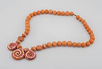Ожерелье из глины, ручная работа