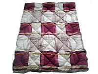 Шерстяное одеяло полуторное, Квадрат полиэстер (140х205 см.)