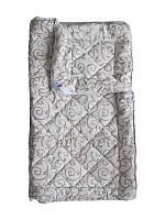 Шерстяное одеяло полуторное, облегченное, Орнамент бязь (140х205 см.)