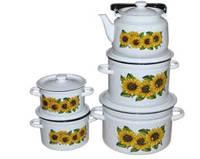 EPOS Набор цилиндрических кастрюль + чайник - набор 112 эмаль