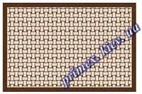 """Безворсовый придверный коврик-рогожка Natura Karat """"Кардиограмма"""" - цвет коричневый"""