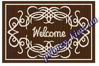 """Безворсовый придверный коврик-рогожка Natura Karat """"Welcome"""" - цвет коричневый"""