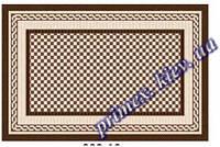 """Безворсовый придверный коврик-рогожка Natura Karat """"Картина"""" - цвет коричневый"""