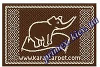 """Безворсовый придверный коврик-рогожка Natura Karat """"Карат"""" - цвет коричневый"""