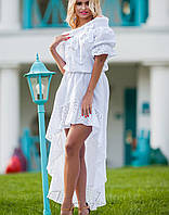 Белое платье из хлопка   Chloe jd
