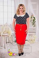 Красивое платье большого размера 48-56