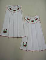 Ночная рубашка для девочки с вышивкой, интерлок. р.р. 28-34.