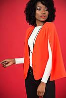Стильный качественный женский пиджак с разрезанными рукавами