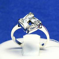 Ювелирное серебряное кольцо с камнями Квадрат 1069