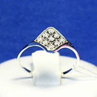 Ювелирное кольцо из серебра с камнями в форме Ромба 1129