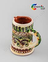 Керамическая пивная кружка ручной работы(маленькая)