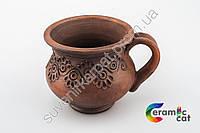 Глиняная чашка ручной работы